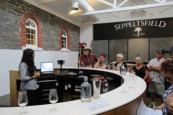 Wine tasting at Seppeltsfield