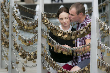 Love Locks at the Bell Tower